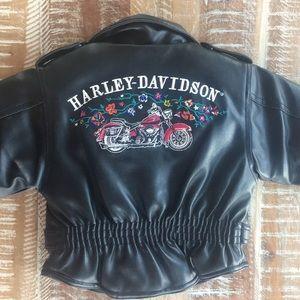 Harley-Davidson embroidered biker jacket